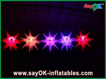Chine La décoration souple d'étape a mené allumer l'étoile gonflable pour l'événement, rouge/bleu fournisseur