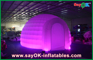 Advertising Dome Inflatable Air Tent , Led Light Inflatable Lawn Tent