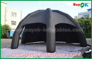 Chine Tente gonflable noire d'air de PVC/tente d'araignée dôme de la publicité avec le ventilateur fournisseur