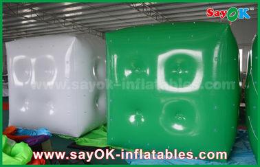 Chine En annonçant le ballon gonflable vert blanc/le ballon hélium de cube avec le logo imprimez fournisseur
