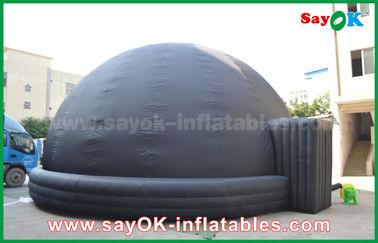 Chine Tente mobile gonflable de projection de dôme de planétarium d'explosion noire avec le ventilateur fournisseur