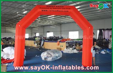 Chine Ventilateur gonflable rouge d'UL/CE de sécurité de voûte de finition de 4 x de 3m 210D Oxford pour la course fournisseur