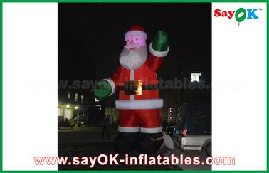 Chine Couleur rouge de Père Noël d'air de danseur de décoration gonflable gonflable de Festeval pour l'événement fournisseur