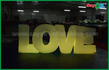 Chine Décoration gonflable romantique d'éclairage, lettre d'amour gonflable avec la lumière de LED fournisseur