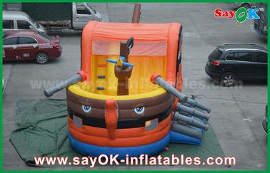 Chine 0,55 châteaux sautants gonflables de rebond de bateau de pirate de PVC pour la certification de GV d'enfants fournisseur