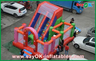 Chine Château plein d'entrain gonflable magique de PVC de rebond de zone imperméable gonflable rouge de souffle fournisseur