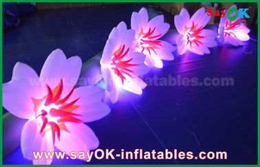 5m Long Nylon Inflatable Flower Chain Inflatable Light Decoration For Wedding