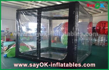 Chine Tente gonflable noire faite sur commande d'air pour la promotion ou la publicité commerciale fournisseur