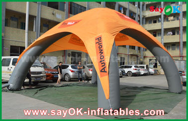 Chine 4 pieds d'araignée d'homme de tente de camping gonflable colorée pour la décoration d'exposition/partie fournisseur