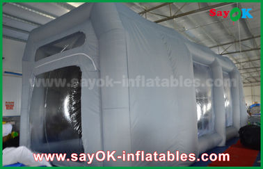 Chine Tente gonflable imperméable de bulle de cabine de jet de PVC pour la peinture au pistolet de voiture fournisseur