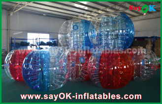 Chine Grand football gonflable rouge/bleu transparent 1.5m de bulle de jeux de sports pour camper fournisseur