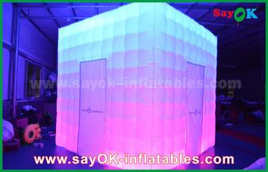 Chine PVC adapté aux besoins du client de forme enduisant la cabine gonflable de photo de LED du charme fournisseur