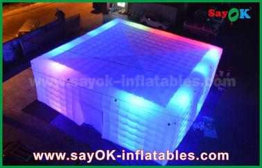 Chine Tente gonflable géante d'air du blanc 210 D Oxford avec l'éclairage de LED pour la partie fournisseur