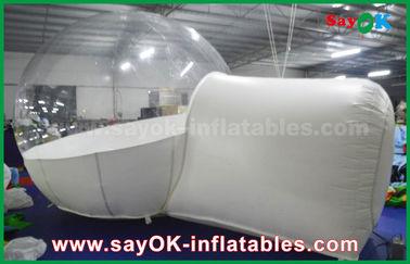 Chine Tente gonflable blanche transparente géante de bulle pour camper/loyer/promotion/publicité fournisseur