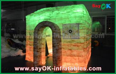 Chine Cabine gonflable adaptée aux besoins du client de photo de pleine impression, Chambre gonflable portative de cube fournisseur