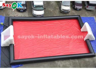 Chine terrain de football gonflable de jeux gonflables de sports de bâche de PVC de 15*8m fournisseur