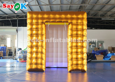 Chine cabine gonflable d'or de photo d'air de 2.5M LED avec GV coloré ROHS de lumières fournisseur