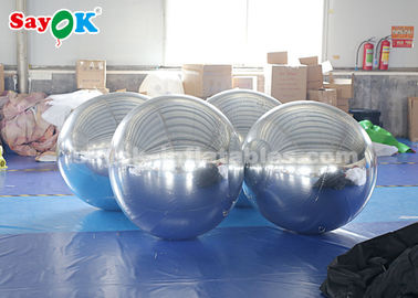 Sliver Giant Inflatable Balloon Mirror Ball Commercial Decoration