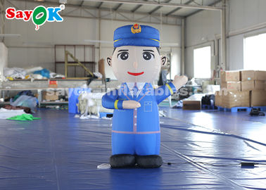 1.5m Height Inflatable Cartoon Characters Police Model For Advertiement