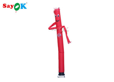 Single Leg Red Inflatable Air Dancer Wave Man For Commercial CE  SGS