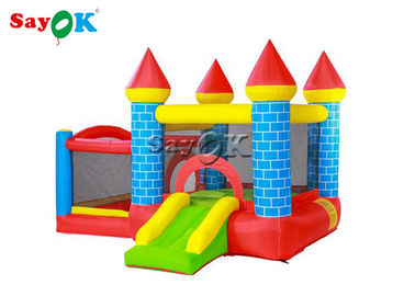 0.55mm / 18OZ Waterproof Mini Inflatable Castle Two Years Warranty