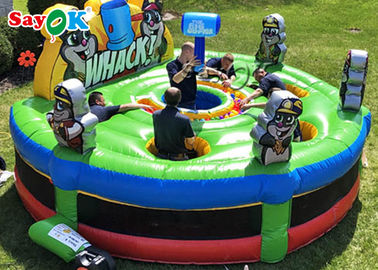 Adult Interactive Game Inflatable Whack A Mole Game For Party 4.5mx1.8mH