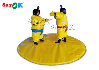 Yellow Kids Play Inflatable Fighting Sumo Suits