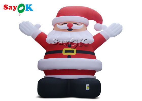 8m Outdoor Christmas Inflatable Santa Claus Wearing A Red Hat