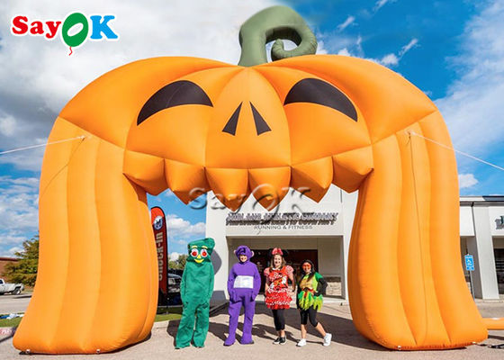 Customized Oxford Cloth 8x5mH Inflatable Pumpkin Archway