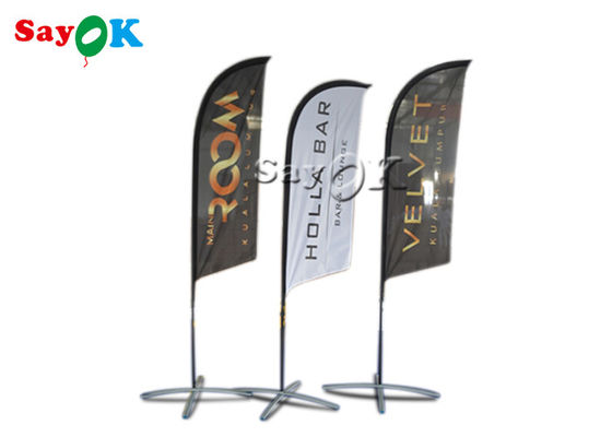 Portable Inflatable Air Knife Flag Folding Tent For Promotion / Advertising