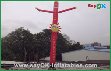 Commercial Red 6m Inflatable Tube Man With Logo Printing Oxford nylon