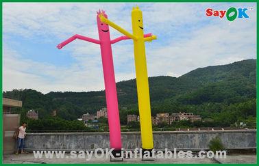 Chine Décorations de vacances d'homme gonflable homme commercial d'air de danse de tube rouge/jaune fournisseur