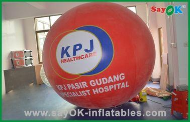 Chine Le grand hélium rouge monte en ballon le ballon gonflable commercial de gaz d'hélium de produits fournisseur