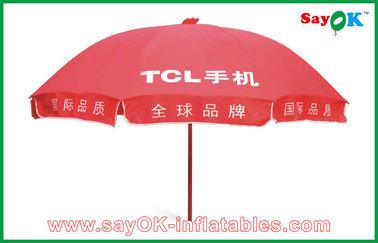 Chine Marchéannonçantle parapluie de Sun rouge imperméable pour la promotion 3X3m fournisseur