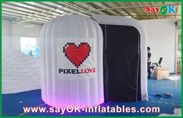 Chine Le blanc a arrondi le tissu gonflable de Photobooth 210D Oxford et la lumière de LED fournisseur