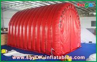 Chine Tunnel gonflable de tente gonflable imperméable rouge d'air avec la marque faite sur commande de logo usine