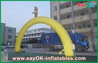 Chine Tissu promotionnel d'Oxford annonçant la location gonflable de porte de voûte d'entrée usine