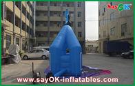 Chine Double voûte gonflable extérieure bleue de finition course de cycle de 7mL x de 4mH usine