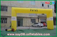 Chine Copie de location de logo de grande voûte gonflable carrée pour la publicité usine