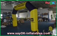 Chine Longue distance gonflable jaune d'arcades courant la voûte gonflable de course usine