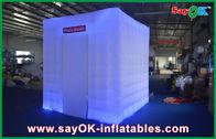 Chine Logo gonflable de cabine de photo de beau cube pour les clubs extérieurs usine