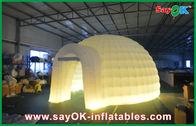 Chine La tente gonflable d'air de mariage extérieur, Moblie a mené la tente de camping gonflable de demi-cercle usine