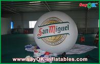 Chine La publicité du PVC gonflable du ballon 0.18mm de dirigeable souple d'hélium de ballon du blanc 2M usine
