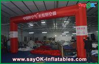 Chine Ligne d'arrivée gonflable de publicité commerciale, voûte gonflable rouge de finition de 6 x de 4m usine