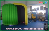 Chine Caisse jaune verte Inflatbale de cabine de Photot pour la décoration d'événement usine