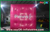 Chine Ballon gonflable de cube gonflable rosâtre géant en hélium pour la promotion usine