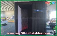 Chine Vente en gros gonflable Photobooth de clôture de cabine de photo de forme noire d'arc avec la copie usine