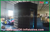 Chine Blanc gonflable de cabine de photo d'octogone de Blakc à l'intérieur avec le tissu d'Oxford de lumière de LED usine