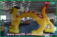 Chine Arcade gonflable de voûte formée par dragon d'impression de logo voûte gonflable faite sur commande de 7 * de 4m usine