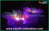 Chine fleur gonflable de décoration d'éclairage de tissu en nylon de 1.5m multicolore pour la partie usine